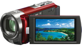 Sony DCR-SX65E-R PAL Compact Camcorder With 60X Optical Zoom Red