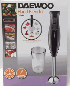 Daewoo DBH648 220 240 Volt 50 Hz Hand Blender with Metal Mixer