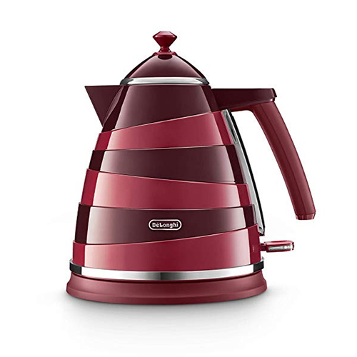 Delonghi KBAC3001.RED Electric Kettle - 1.7 liter Capacity, 3000 Watt - 220 volt 50 Hz