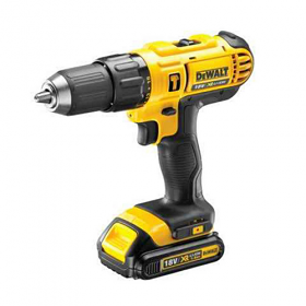Dewalt DCD776S2 18 Volt LI-ION 13 mm Compact Hammer Percussion Drill Driver 1.5 Ch - 220-240 Volt 50 Hz To Use Outside North America
