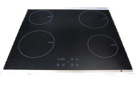 ELBA HB-BI582 0CM, 4 ZONES, 2 X 1.6KW, 2 X 2.0KW, INDUCTION HOB WITH SENSOR TOUCH, LED TIMER 220 VOLTS