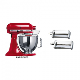 Kitchen Aid 5KSM150PSE 220-240 Volt 50 Hz 5 Qt Stand Mixer With Pasta Cutter Set 5KPCA Attachment