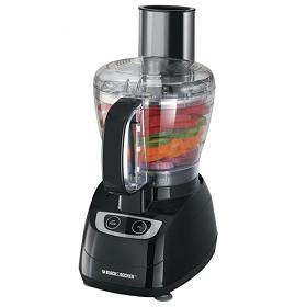 Black & Decker FP-1700B Food Processor - Black Color -  220-240 Volt 50 Hz - 8 Cup Bowl - Touch Pad Control - Powerfull 450 Watt motor