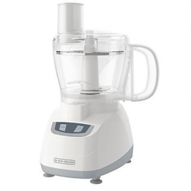 Black & Decker FP-1700W Food Processor - white Color - 220-240 Volt 50 Hz - 8 Cup Bowl - Touch Pad Control - Powerfull 450 Watt motor - Stainless Steel Clicing and Shredding disc - To Use Outside North America