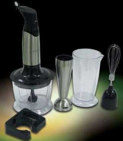 Frigidaire FD5108 220-240 Volt 50 Hz Hand Blender with Whisk and Chopper