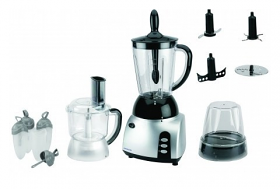 Frigidaire FD5115 220-240 Volt Food Processor - 3 in 1 Food Processor with Blender, Chopper & Grinder - To Use Outside North America.