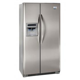 Frigidaire FRRC25V8GM 220 Volt 240 Volt 22.6 Cu Ft Silver Side By Side Refrigerator
