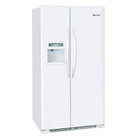 Frigidaire GLSE28V9GW 220 Volt 240 Volt 26 Cu Ft White Side By Side Refrigerator