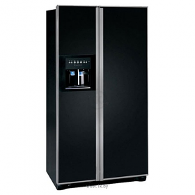 Frigidaire GLVC25VBGB 220 Volt 240 volt 50 Hz 22.6 Cu Ft Black Side By Side Refrigerator