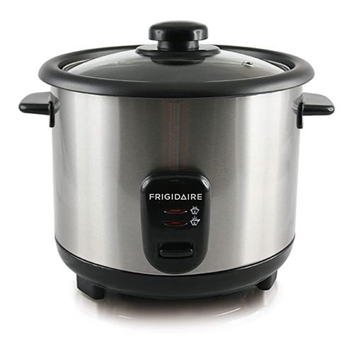 Frigidaire 1 Liter capacity 5 Cups Silver color Rice Cooker - 220-240 Volt 50 Hz