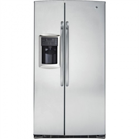 GE 220-240 Volt 50 Hertz 25 cu. Ft. side/side Stainless Steel Grey Color Refrigerator GSE25MGYC SS