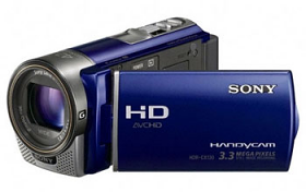 Sony HDR-CX130EL Full HD PAL Camcorder with 30X Optical Zoom Blue