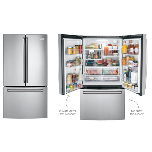 Mabe INO27JSPFSS 29 Cu Ft Freestanding or Built in Stainless Steel French Door Refrigerator - With Internal Water Dispenser and Internal Automatic Ice Maker - 220-240 Volt 50 Hz