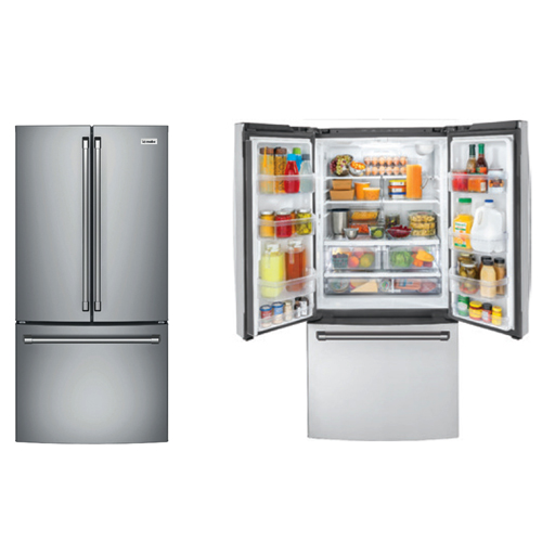 Mabe IWO19JSPFSS 29 Cu Ft Freestanding or Built in Stainless Steel French Door Refrigerator - With Internal Water Dispenser and Internal Automatic Ice Maker - 220-240 Volt 50 Hz