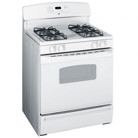 GE JGBP35GXM WW 220-240 Volt 50 Hertz White Color Gas Range