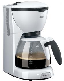 Braun KF520 220-240 Volt 50 Hz White Color Coffee Maker