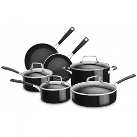 Kitchen Aid 10-Piece Nonstick Aluminum Cookware