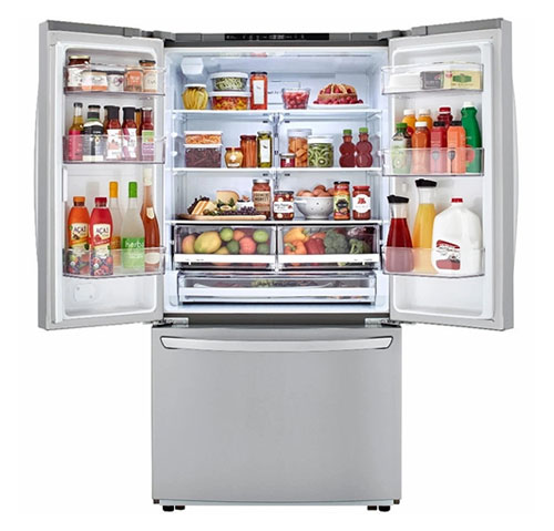 LG LFCC22426S 22.8 Cu Ft French Door Counter Depth Refrigerator - Stainless Steel - Refurbished Version