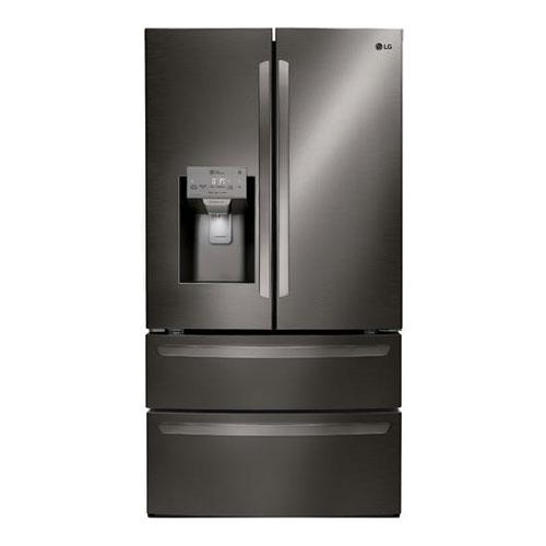 LG LMXS28596D 27.8 Cu Ft French Door 4 Door Insta View Door in Door Refrigerator - Refurbished Version