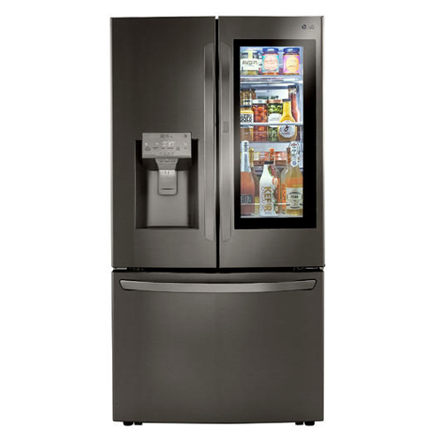 LG LRFV3006D 29.7 Cu Ft French Door 4 Door Insta View Door in Door Refrigerator - Refurbished Version
