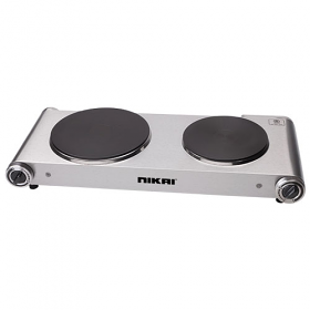 Nikai NKTOE5N2 Double Electric Hot Plate - 220-240 Volt 50 Hz