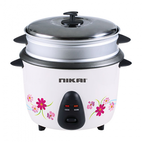 Nikai NR670 0.6 Liter Rice cooker - Non Stick Teflon Top - Steamer 220-240 Volt 50 Hz