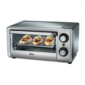 Oster TSSTTV10LTB 220-240 Volt 50 Hz 10 Liter Silver Toaster Oven - 10 Liter Capacity - 1000 Watt Power - 4 Functions - To Use Outside North America!!