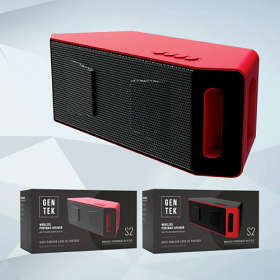 GenTek S2 Wireless Portable Speaker with Precision Engineered Sound