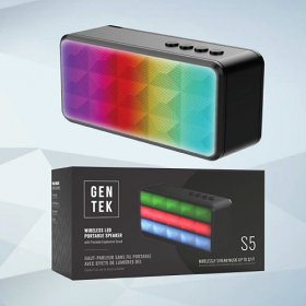 GenTek S5 Wireless LED Portable Speaker