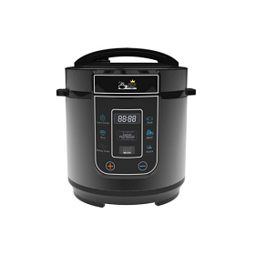 Pressure King PKP-3LBK PRO 3 Liter Black Color Pressure Cooker - 8 Preset Functions - Locks in Vitamins and Nutrients -