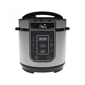 Pressure King PKP-3LCH PRO 3 Liter Chrome Color Pressure Cooker - 8 Preset Cooking Functions
