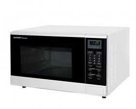 Sharp R-340R 220-240 Volt 50 Hz  1100 Watt 32 Liter White Color Microwave