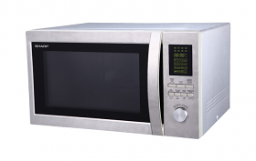 Sharp R-45BT 220-240 Volt 50 Hz  43 Liter 1100 Watt Stainless Steel Microwave Oven