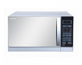 Sharp R-75MR 220-240 Volt 50 Hz 25 Liter White Color Microwave with Grill