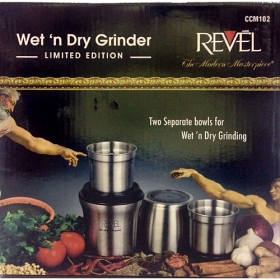 Revel CCM-102 Stainless Steel 2-Jar Wet and Dry Coffee/Spice/Chutney Grinder