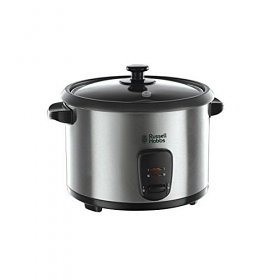 Russell Hobbs 19750-56  Rice Cooker - 1.8 Liter Capacity - Brushed Stainless Steel Housing with Glass Lid - Power Full 700 Watt Motor