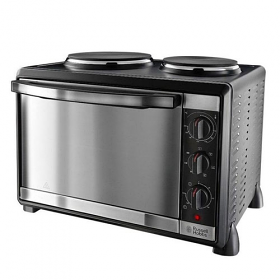 Russell Hobbs 22780 Mini Kitchen - 1600 Watt Oven - 1000 Watt Large Hot Place - 750 Watt Small Hot Plate - 30 Liter Capacity -