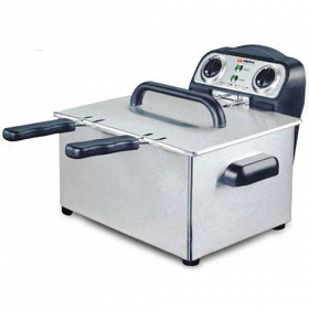 Alpina SF4008 220-240 Volts Twin Steel Bowl Deep Fryer