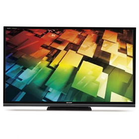 "Sharp LC-70LE735M 70"" Ultra Slim Multi System Quattron LED TV"