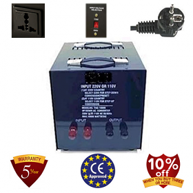 TC-10000A 10000 Watt Step Down Voltage Converter Transformer, 5 Year Warranty 110 to 220