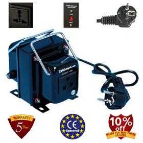 TC-100A 100 Watt Step Down Voltage Converter Transformer, 5 Year Warranty, 220 to 110 V