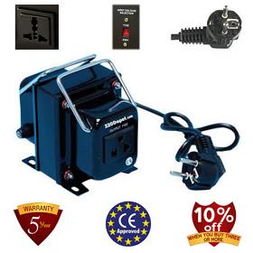 TC-200A 200 Watt 200 Step Down Voltage Converter Transformer, 5 Year Warranty, 220 to 110 V