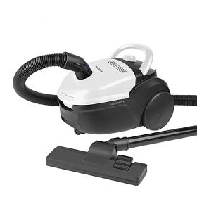 Black & Decker VCBD602 Vacuum Cleaner - 220-240 Volt 50 Hz  - 1600 Watt of Power - 2.5 Liter Capacity - Washable Cloth Bag - Hepa Filter - To Use Outside North America
