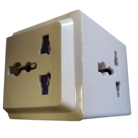 WSS101 - UK Universal Plug Adapter - with 3 Universal Outlet