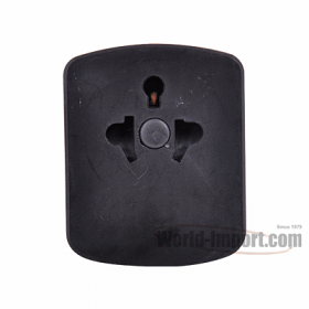 Grounded US/Euro to Grounded UK Plug with Fuse Protection - WSS405