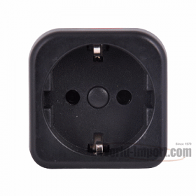 Grounded Euro (Shucko) to Grounded UK Plug Plug Adapter - WSS408
