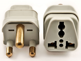 WSS438 South Africa Plug Adapter - Accepts universal input