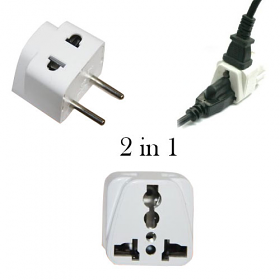 WSS711 2 in 1 Universal Plug to use in Continental Europe - WSS711