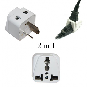 Grounded 2 in 1 universal plug to use in Australia and New Zealnd- WSS716