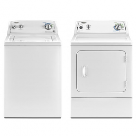 Whirlpool WTW4740YQ Top Load Washer with High Capacity and Whirlpool WED4800YQ Electric Dryer Combo